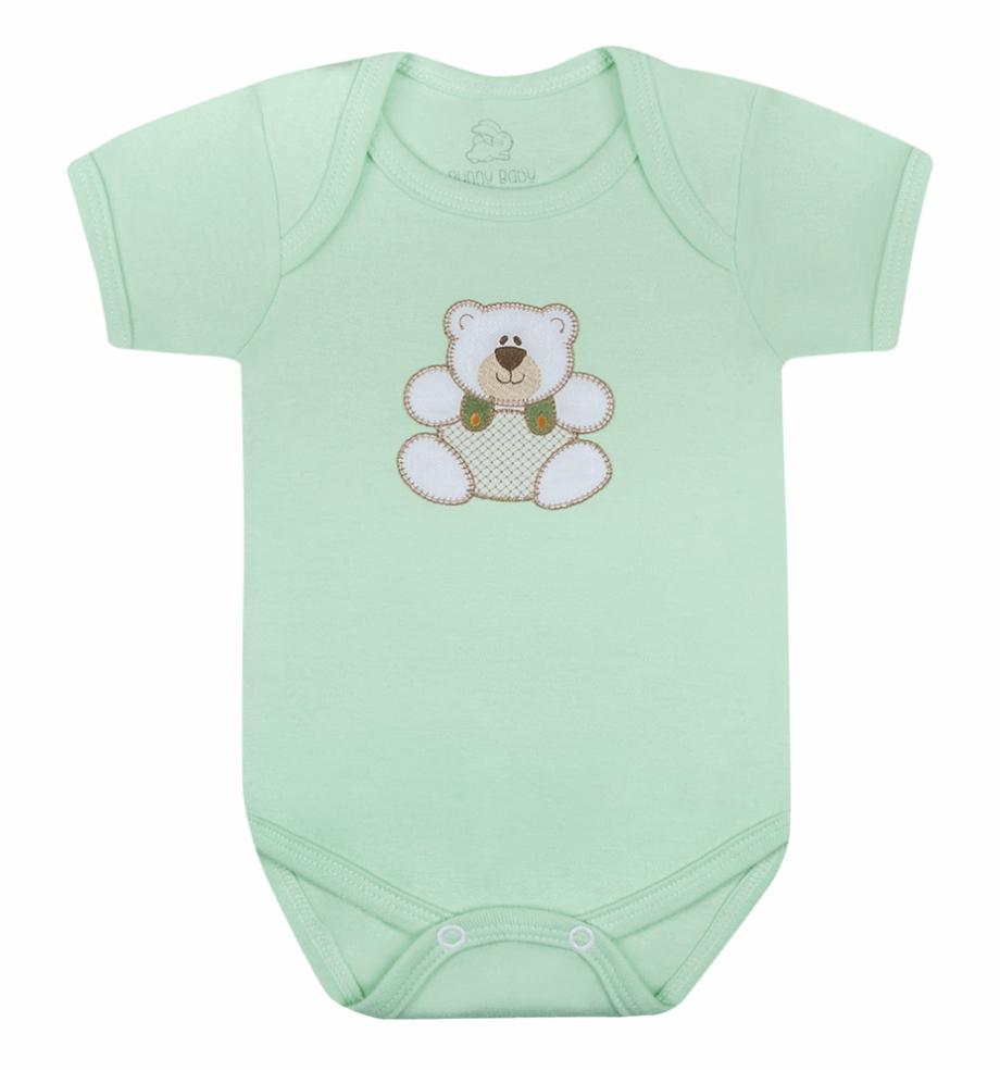 Body Baby Ursinho Verde.