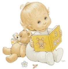 Baby Reading Book Clipart.
