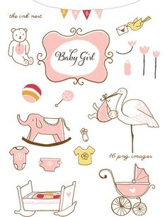 Baby Book Clipart Girl.