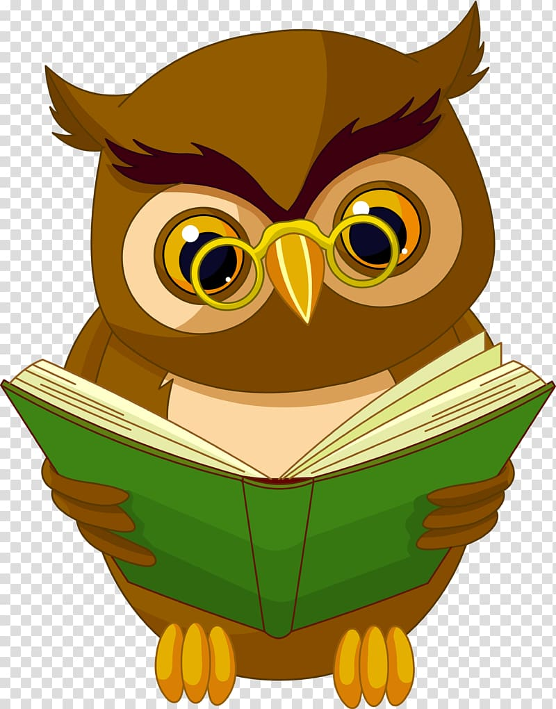 Baby Owls Book Reading , owls transparent background PNG.