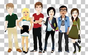 117 Millennials PNG cliparts for free download.