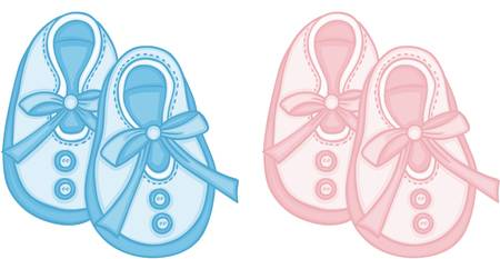 5,365 Baby Shoes Stock Vector Illustration And Royalty Free Baby.