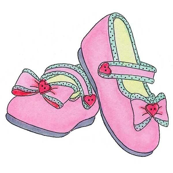 Pink Baby Booties Free Clipart.