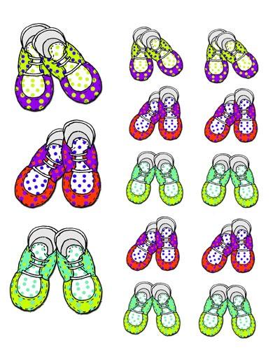 Baby Shoe Clip Art.