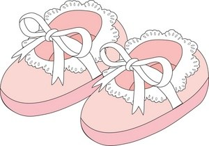 Pink baby booties clipart 4 » Clipart Portal.