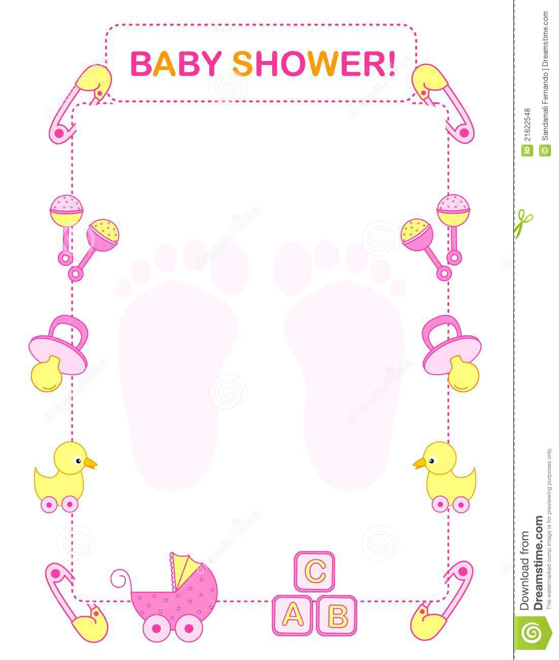 Baby Shower Border Clip Art Free.