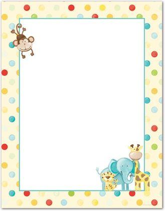 Baby Animal Clipart Borders.