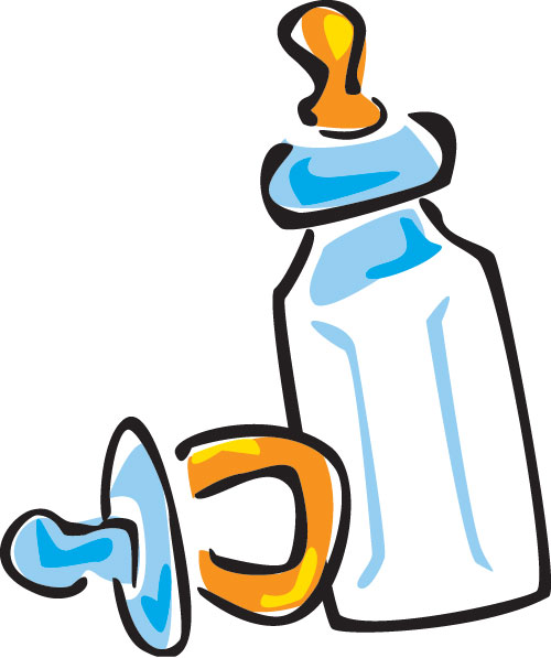 Baby Bottle And Pacifier Clipart.