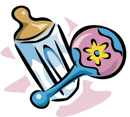 Clipart of baby rattle bottle.