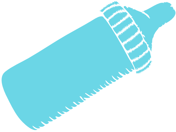 Baby Bottle Clipart Blue.