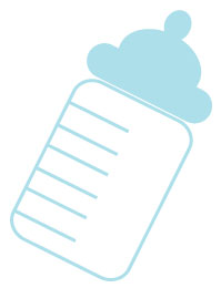Baby Milk Bottle Clipart.