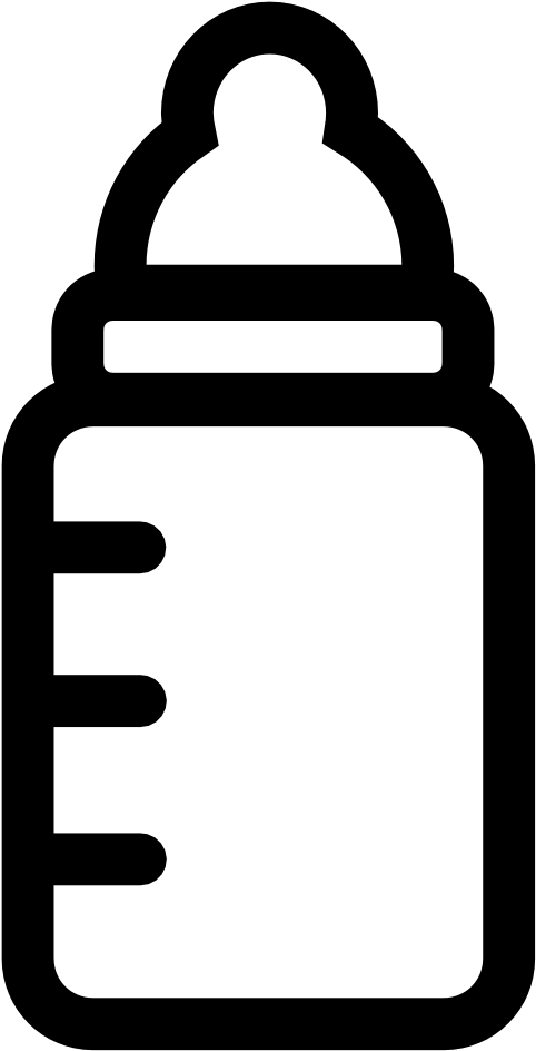Baby Bottle Clipart Black And White.
