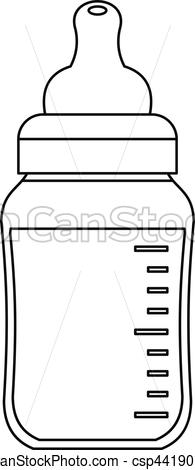 Baby bottle icon, outline style.