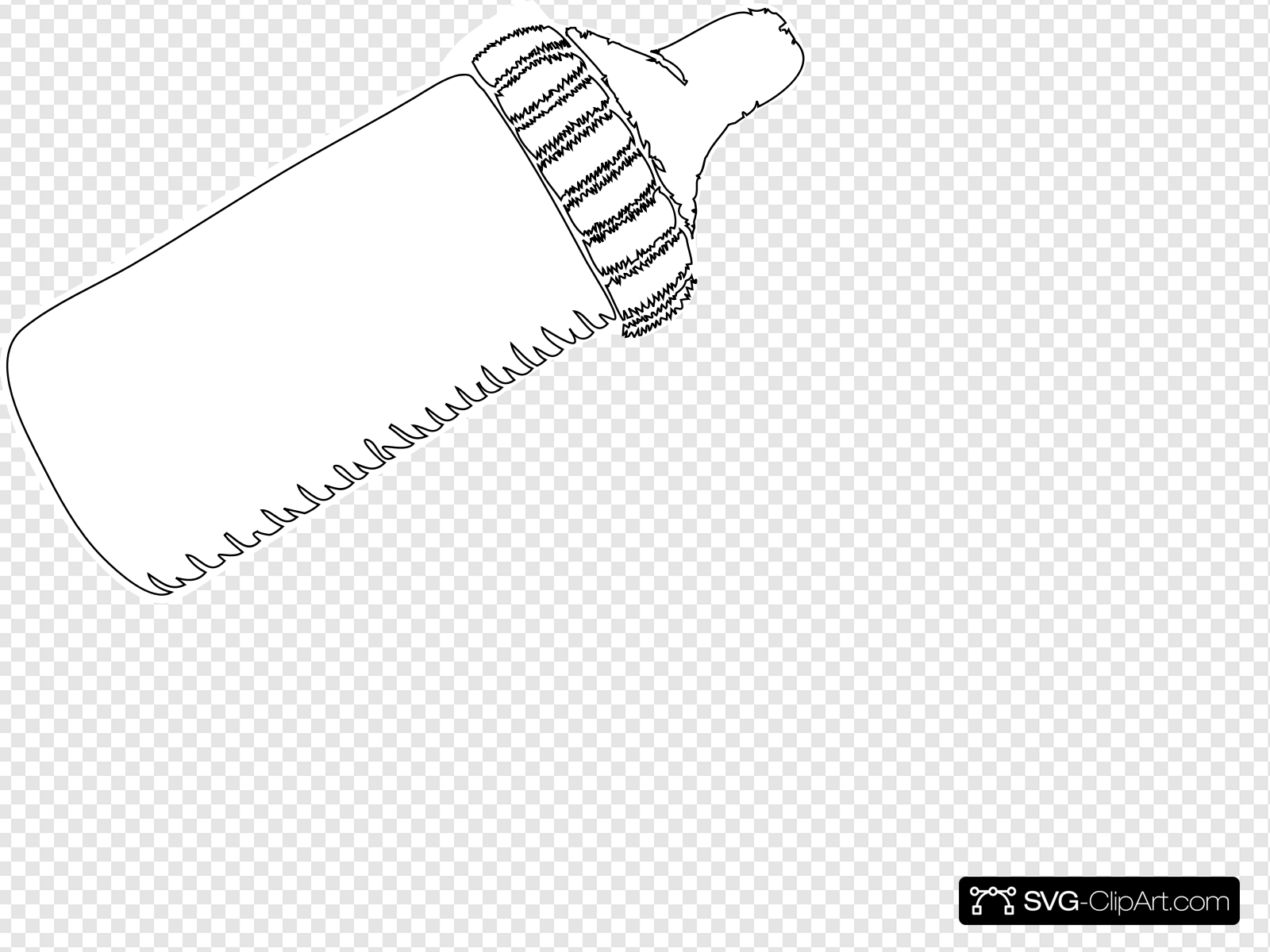 Baby Bottle Outline Clip art, Icon and SVG.