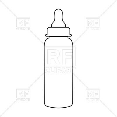 Baby bottle symbol black color path icon Vector Image.