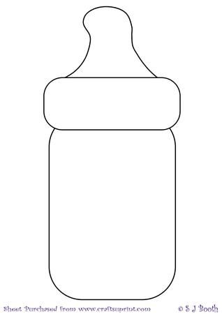 Baby Bottle Template.