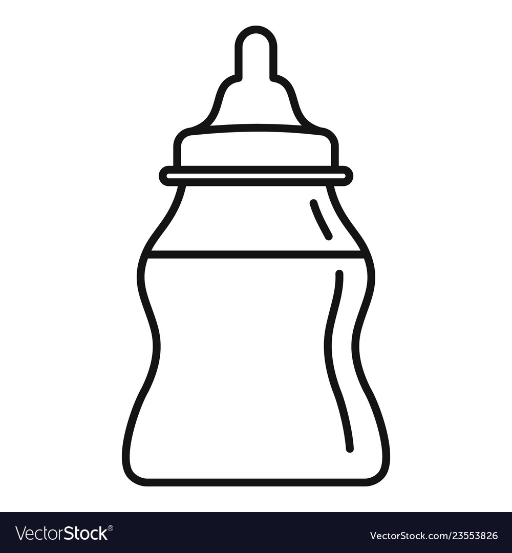 Baby milk bottle icon outline style.