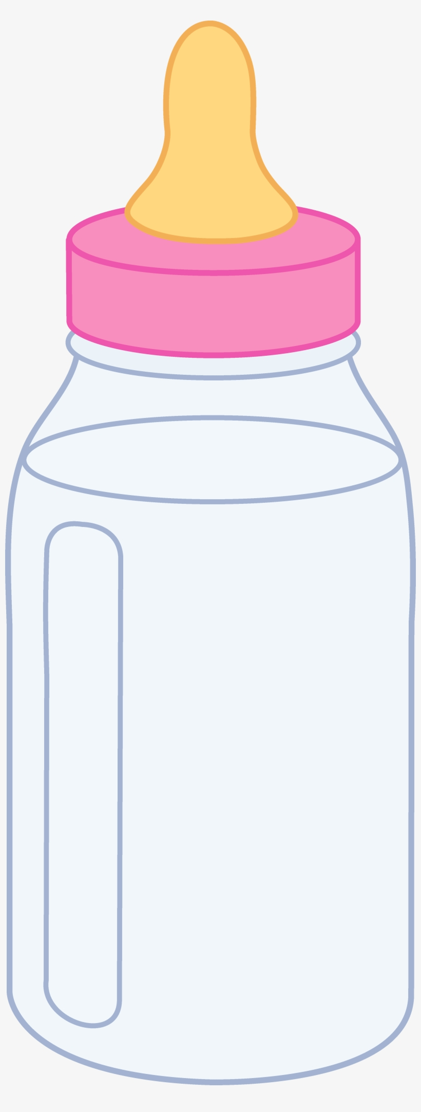 Pink Baby Bottle Clipart.