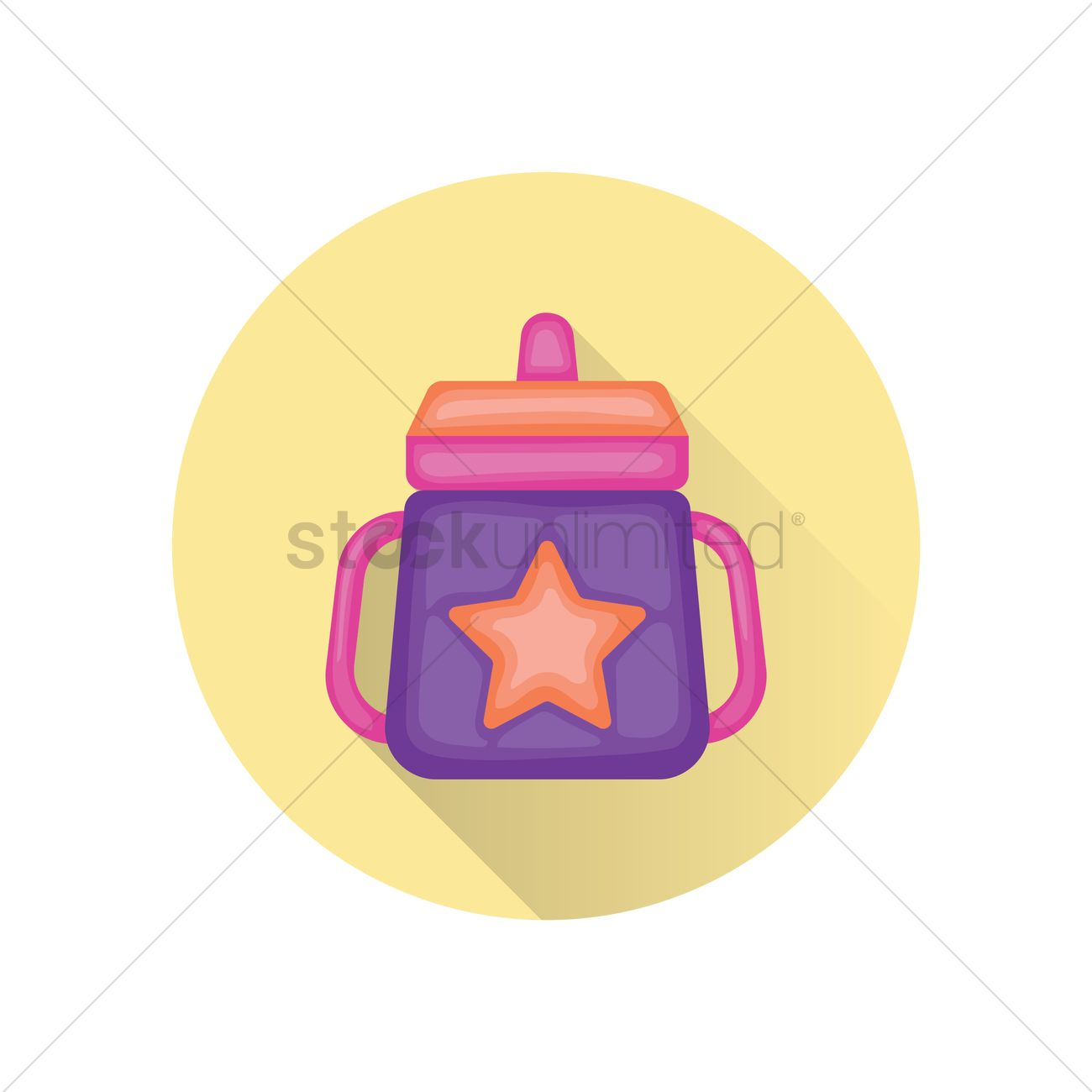 Free A baby bottle with handle Vector Image.