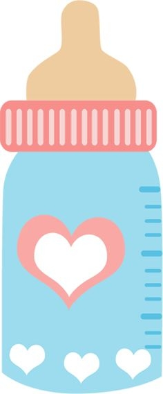 Baby Bottle With Candy Clipart.