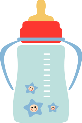 Baby Milk Bottle Clipart.