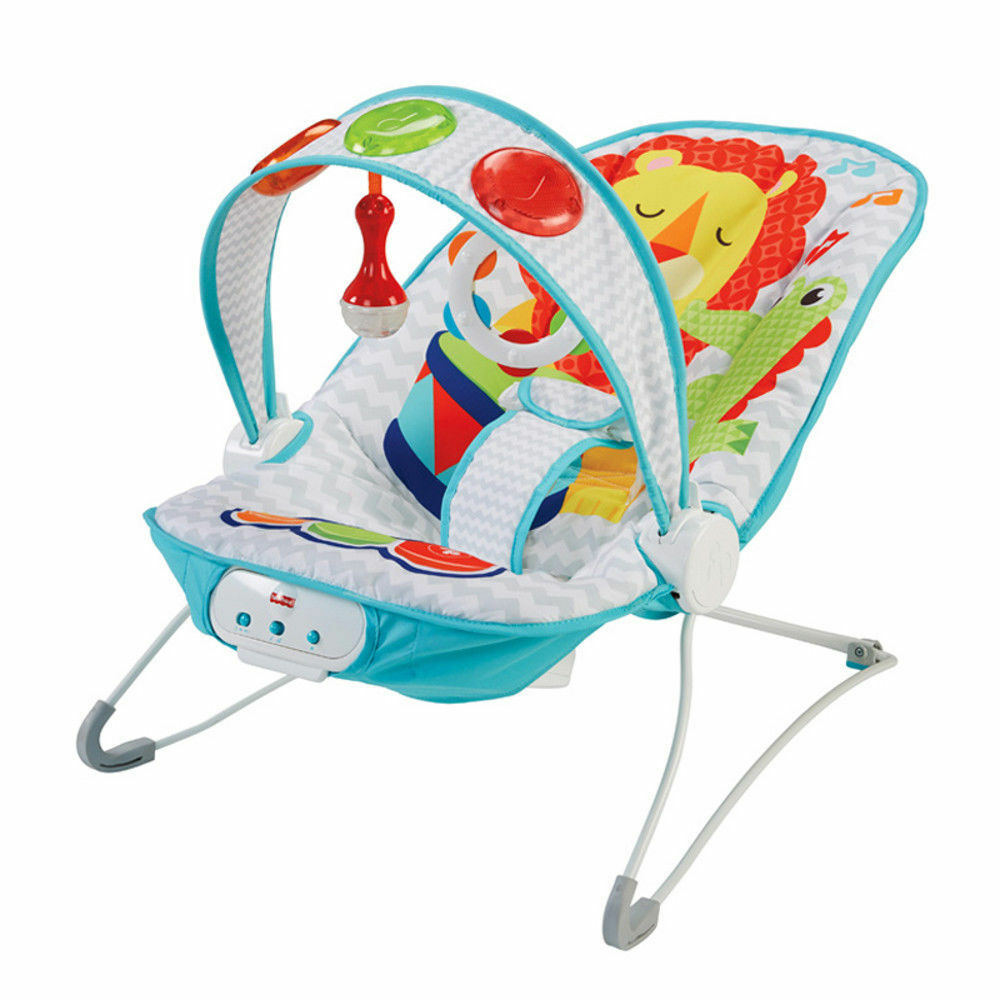 Baby Bouncer Seat Vibrating Chair Comfort Kick and Play Fisher Price  689268940046.