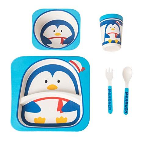 Amazon.com: BESTONZON 5 Pcs Baby Kids Dinner Tableware Set.