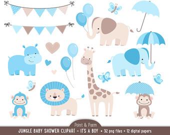 Baby Boy Animals Clipart.