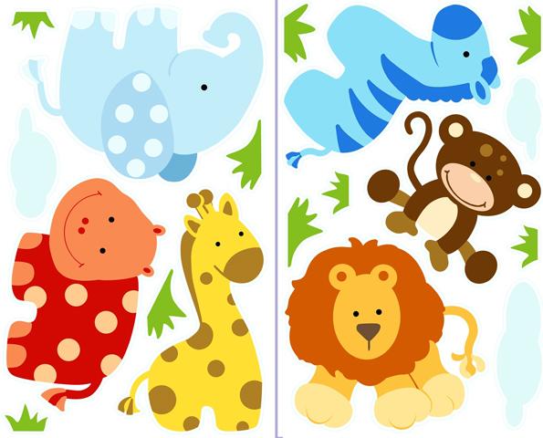 Baby Jungle Animal Clip Art.