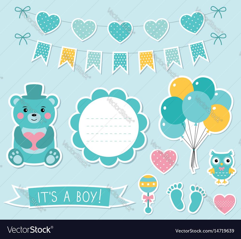 Baby boy arrival set.