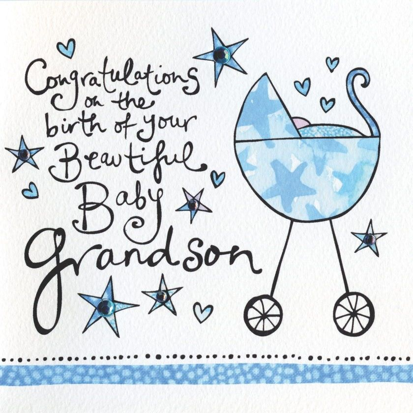 Congratulations On The Birth Of Your Grandson Card.