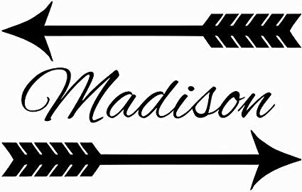 Amazon.com: FSDS Wall Decal Name Arrow Personalized Name.