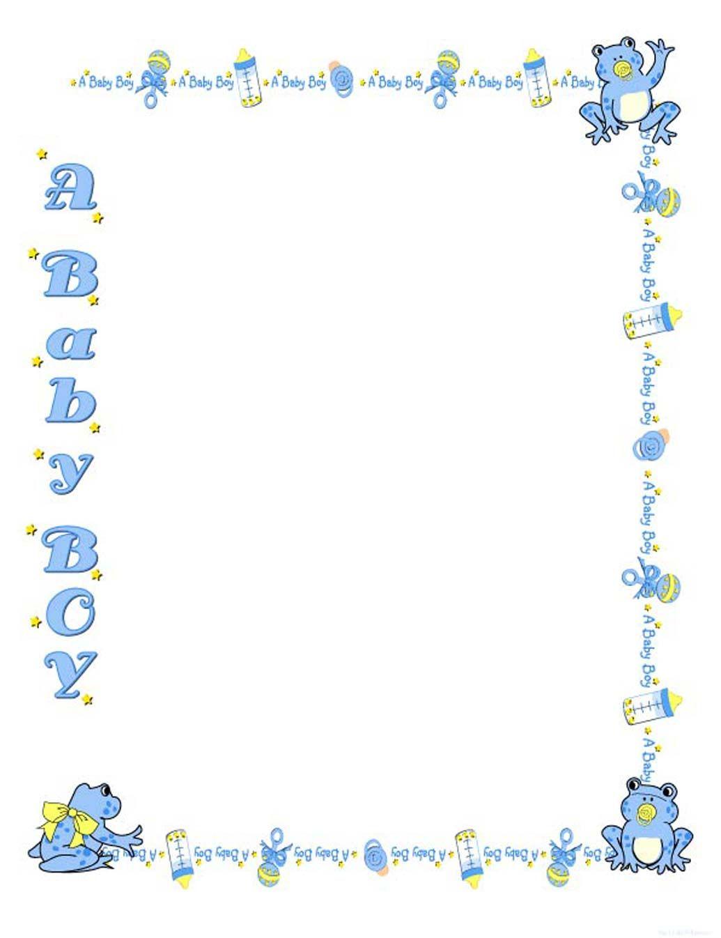 Baby Boy Border Clip Art Free.