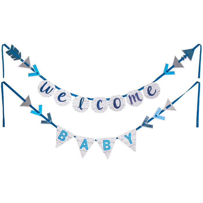 Welcome Baby Boy Banner.