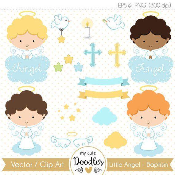 Angel Clipart, baptism clipart, little angel baptism, angel baby.