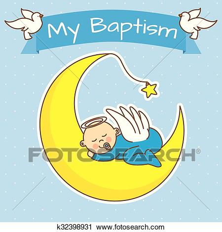 Boy baptism Clipart.