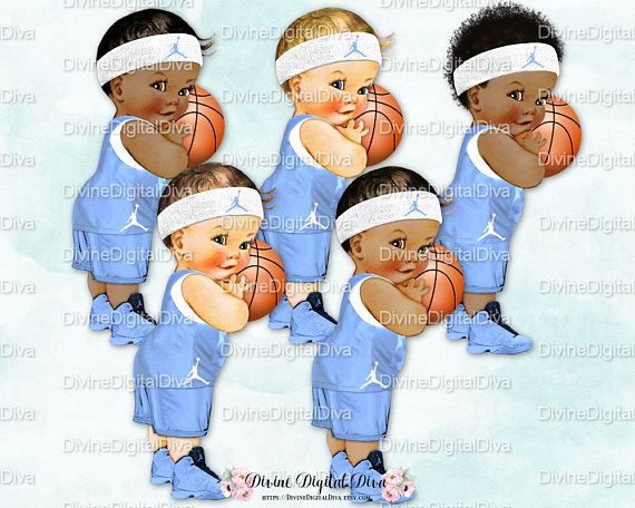 Baby Basketball Clipart.