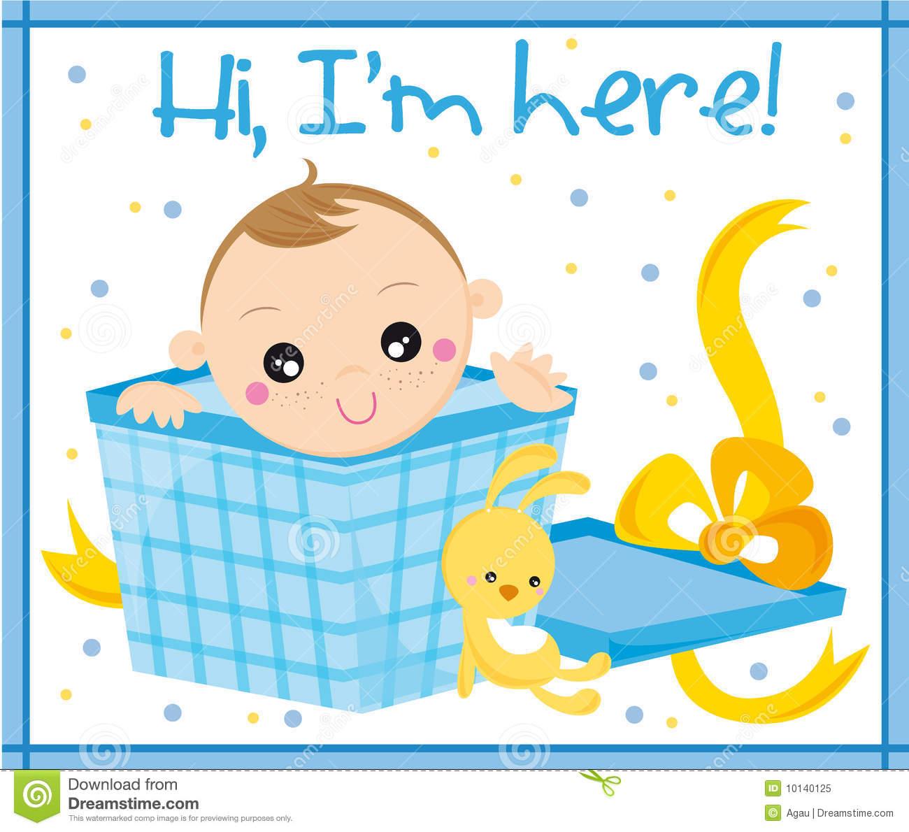 Baby Boy Congratulations Clipart.