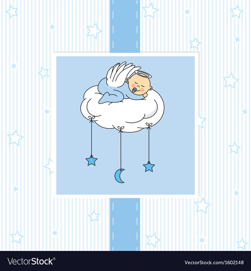 Birth card baby boy.