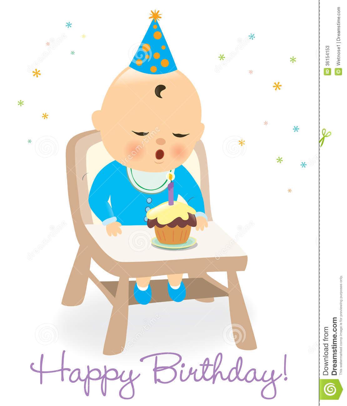 Little Boy Birthday Clipart.