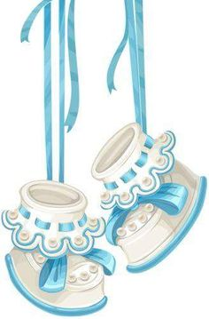 Baby boy booties clipart 8 » Clipart Station.