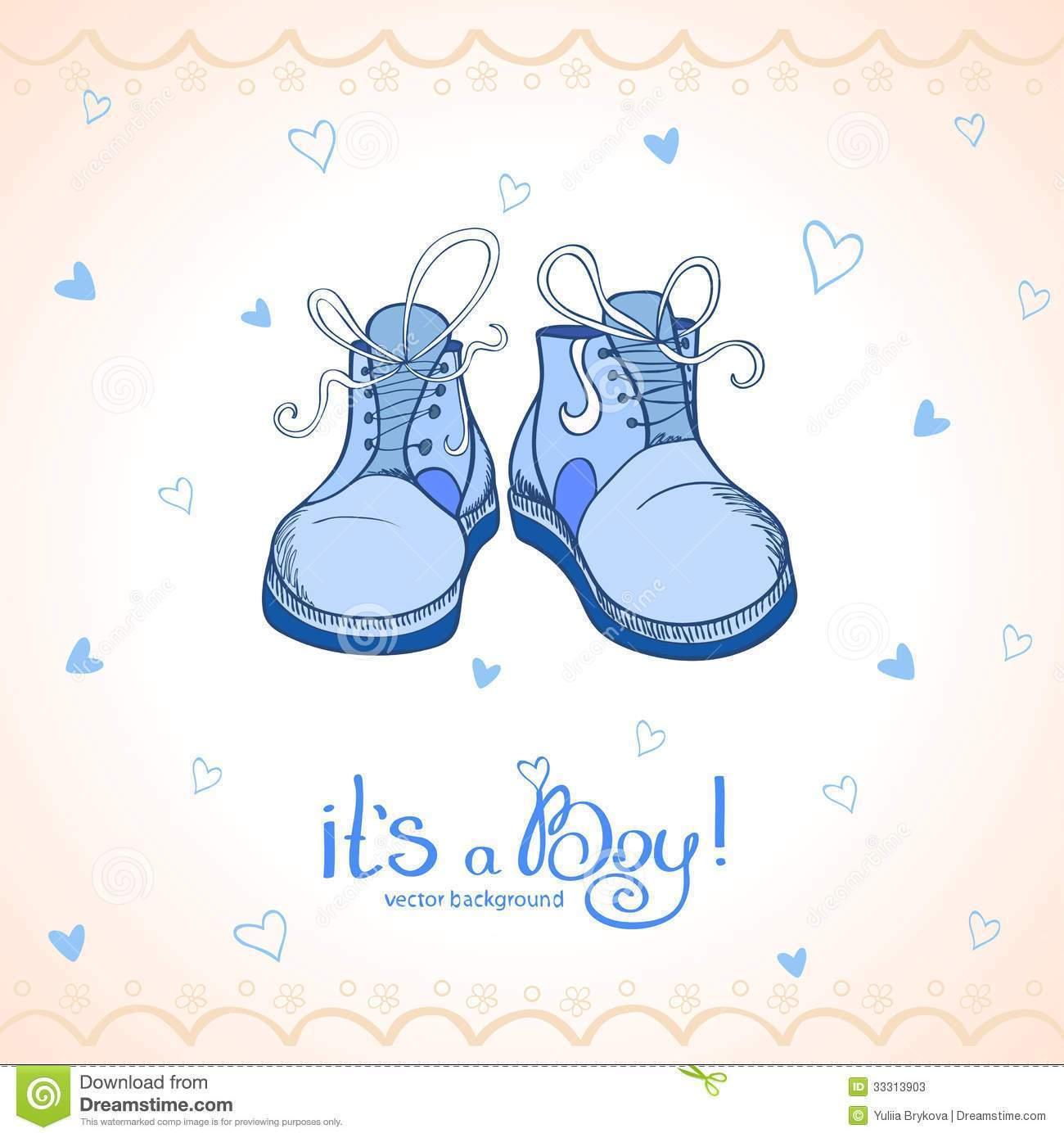 Blue Baby Booties Clipart Boy Shoes Stock Photos C8hkcj.
