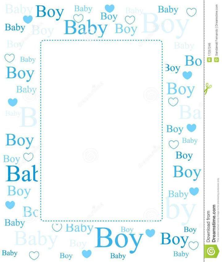 Baby Boy Borders Clip Art.