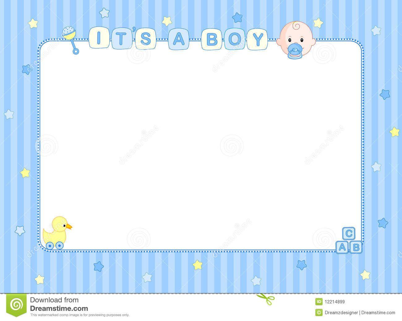 baby boy clip art border.