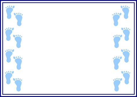 Footprint Border Clip Art.
