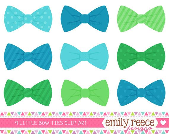 Baby Boy Bow Tie Clipart.