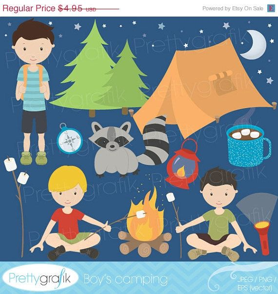 camping clipart commercial use, vector graphics, digital.