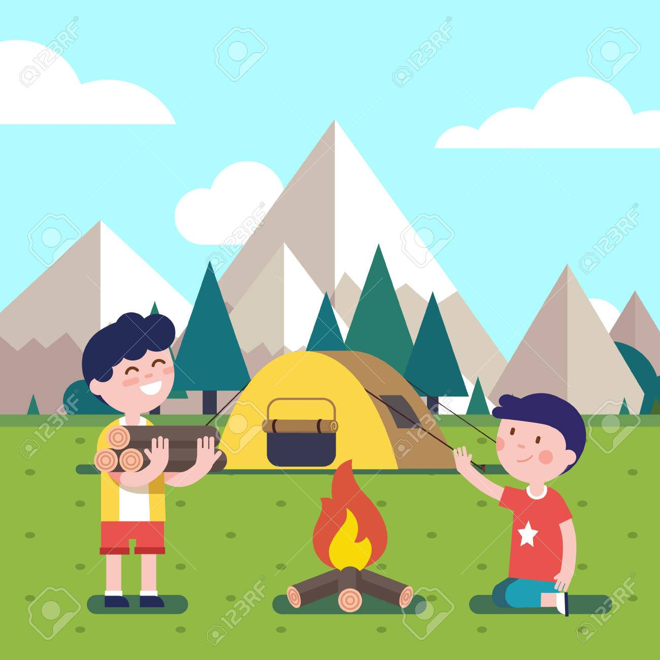 167 Camping Tent free clipart.