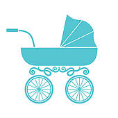 Baby boy carriage clipart 5 » Clipart Station.
