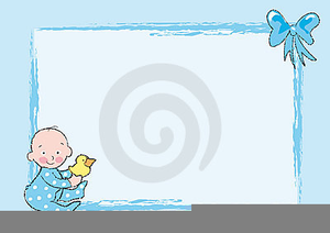 Baby Boy Baptism Clipart.